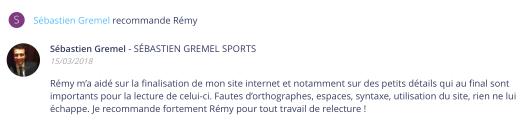 Recomendación Sébastien Gremel Sports